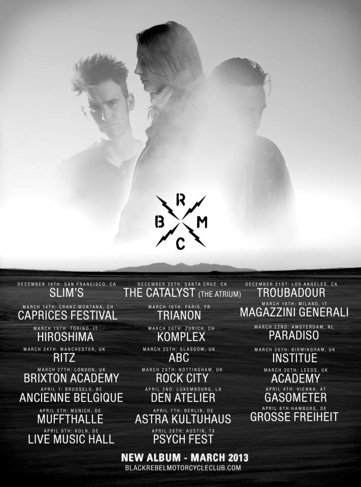 brmc tickets tour troubadour catalyst slims new album