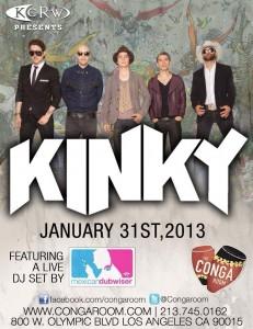 Kinky tocan Jueves 31/1 - Conga Room, Los Angeles