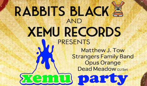 xemu records dead meadow matthew tow strangers family band party show