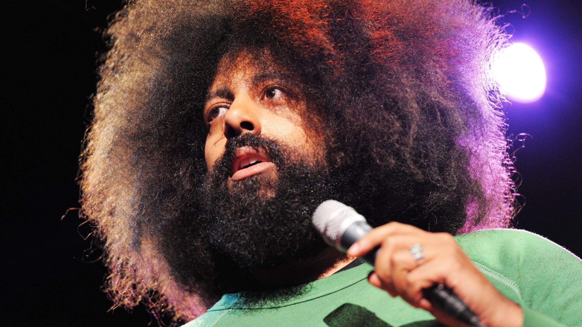 Reggie Watts Off the 405 Yacht Getty Museum Rabbits Black