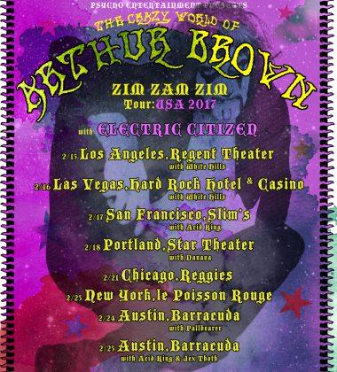 Arthur Brown USA Tour 2017