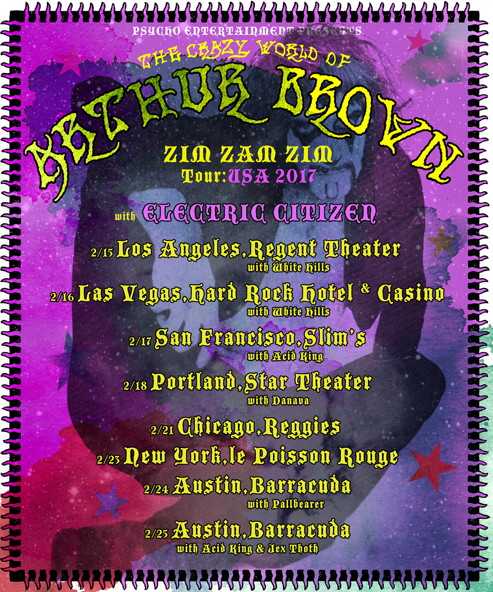 Arthur Brown USA Tour 2017